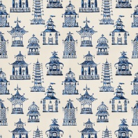 Ткань Fabricut Bezique Pagoda Royal Blue